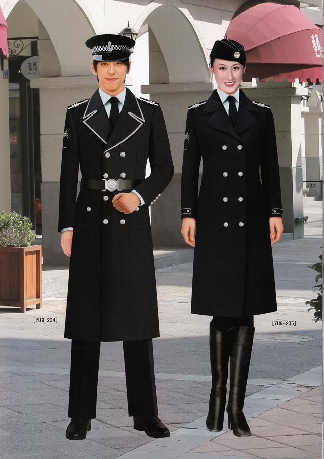 酒店物业管理保安大衣工作制服定制