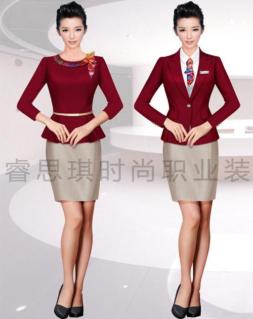 高端时尚女士职场服装定制定做