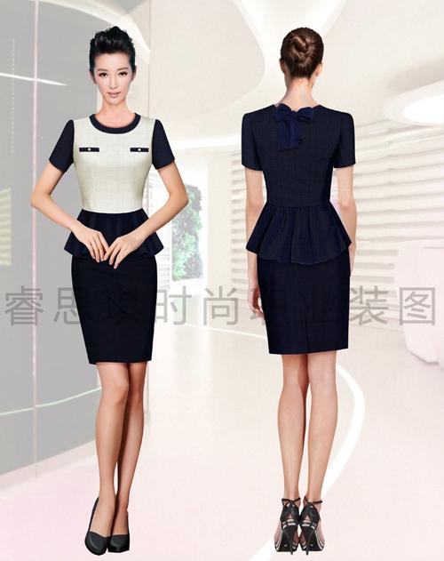 高端女士连衣裙工作服定制定做