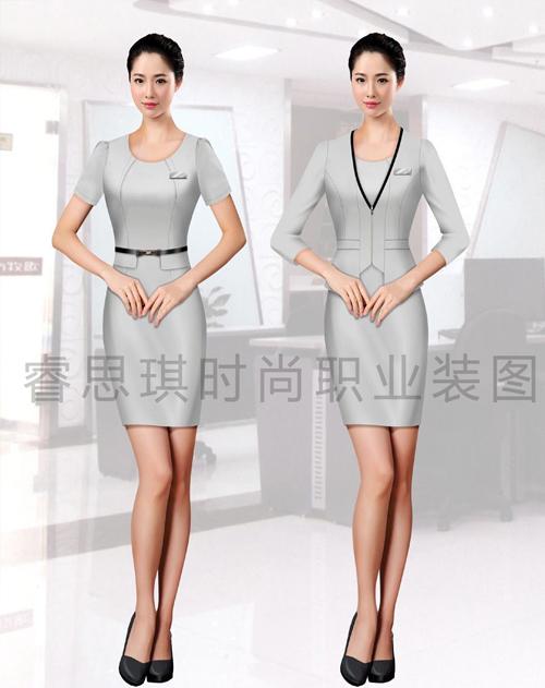 高端女士连衣裙职业装订制订做