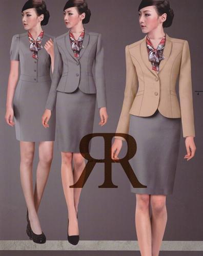 高端时尚修身女士职业装定制