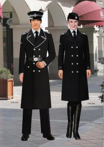 物业保安大衣工作制服定制